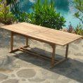 Teak Double Extension Table -Florida 300 cm-Outdoor teak in petaling jaya