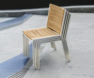 Tessin Stainless Steel Side Chair_stacking